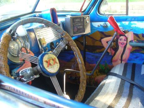 Tijuana Taxi interior