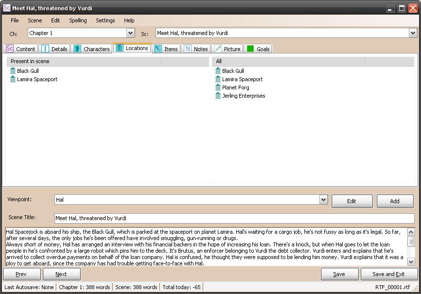 Writer's Toolbox - yWriter5 (2/2)