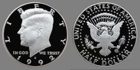 1992-S JFK Half Dollar