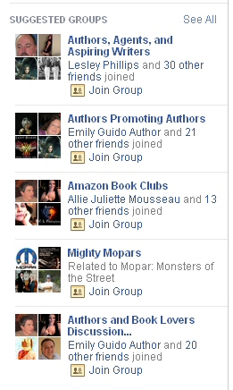 FB Suggested Groups