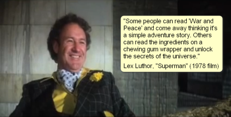 Gene Hackman Lex Luthor quote