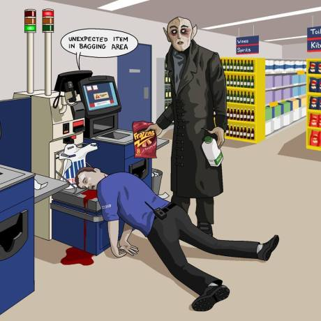 Nosferatu Self-Checkout
