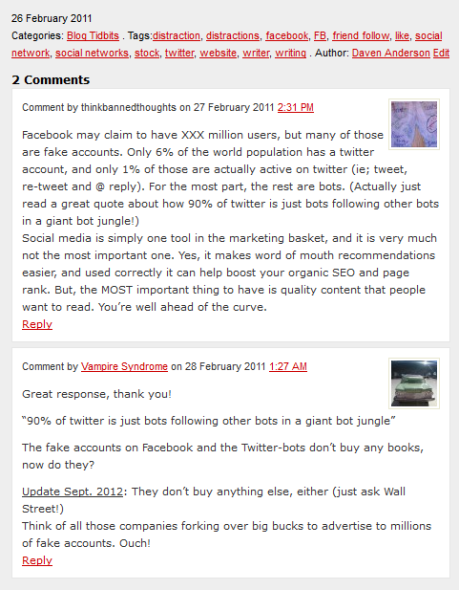 VS Blog 26 Feb 2011 Social Network post comments