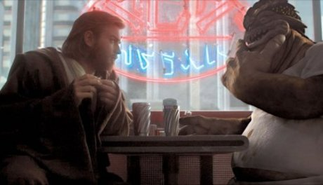 Dex and Obi-Wan in diner